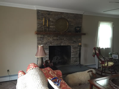 Fireplace after enhancement